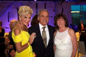 From left: Yolanda Cellucci, Luigi Munno, Deputy Consul General in Boston of Italy and Pam Donnaruma at italianissimo