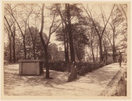 Copps Hill Burying Ground  c. 1890 - (Courtesy of Boston Public Library)