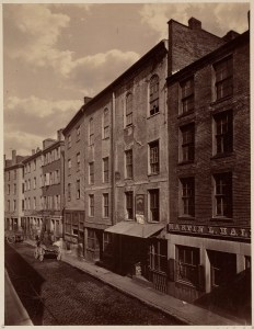 North Street c1860 (Courtesy of Boston Public Library)