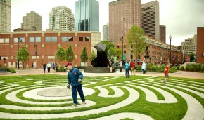 Walking the Labyrinth at Armenian Heritage Park (Photo by Matt Conti)