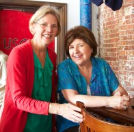 U.S. Senate Candidate Elizabeth Warren with Ciao Italia's Celebrity Chef Mary Ann Esposito