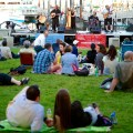 Enjoying Celtic Music at Christopher Columbus Park - August 2012 by Matt Conti