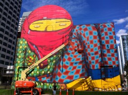 Os Gemeos Mural on Greenway (Photo by Matt Conti)