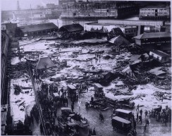 Panorama of the Molasses Disaster site - Globe Newspaper - Courtesy of Boston Public Library