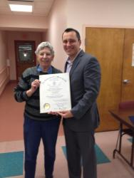 Mary Romano with State Rep. Michlewitz