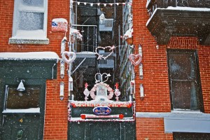 St. Valentine's Blizzard Display by Peter on Battery Street (Photo by Matt Conti)