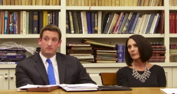 9 Cooper Street zoning relief applicant Elaine DiGangi with Attorney Eric Speed at February 26, 20113 NEWRA ZLC Committee meeting.