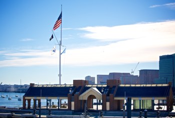 Long Wharf Structure and Flag Pole (Photo by Matt Conti)