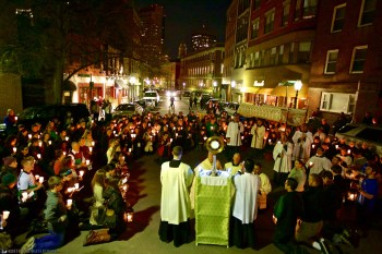 Candlelight Vigil in North Square