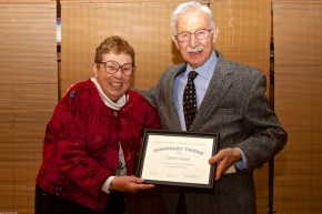 President Emeritus Christine Bergstrom Presents Al Natale the 2013 Honorary Friend Award