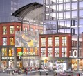 Boston Redevelopment Authority rendering of proposed facade on Causeway Street for the new TD Garden.