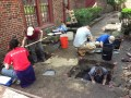 Archeological Dig behind Clough House at Old North