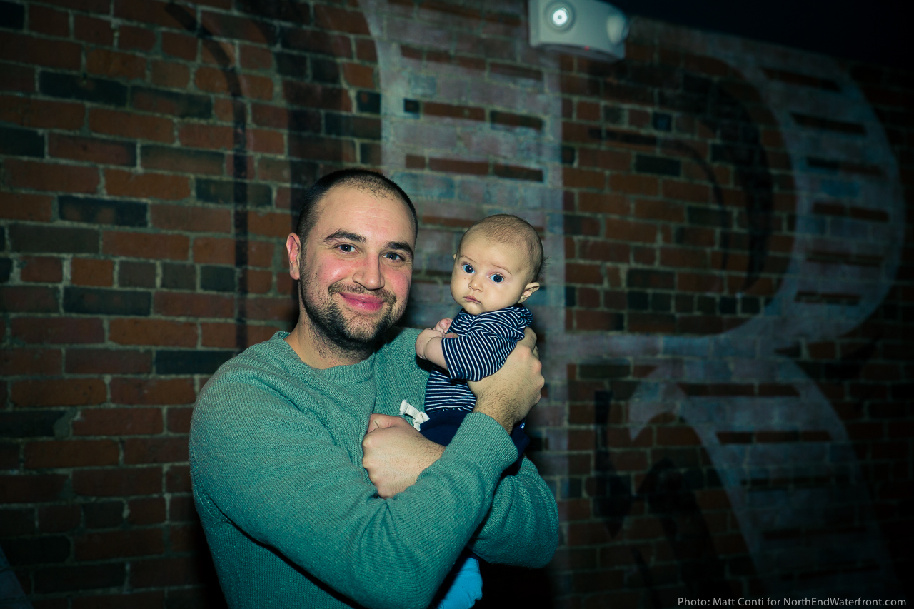 Ward 8 owner, Nicholas Frattaroli, and his son Leo on Grand Opening night