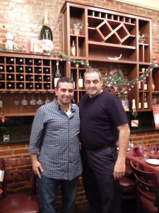 Chef/owner Francesco Pellino, of Pellino's Ristorante (2 Prince St.) with Buddy Valastro, owner and star of Cake Boss TV show on TLC