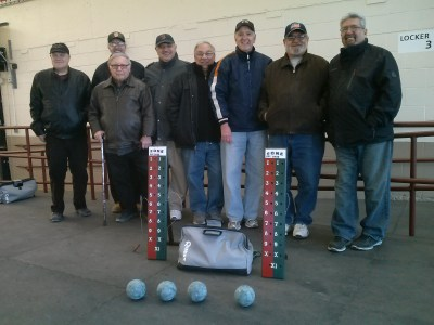 Left to Right: Sam Viscione, Charlie Marino, Richie Delliago, Angelo Di Girolamo, Frank Julianello, Victor Passacantilli, Pat Reppucci, Joe Blazo