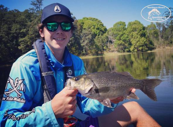 Tyson with a solid bass on a recent charter athellip