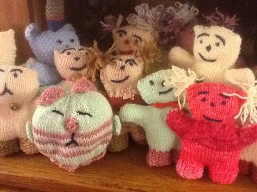 Angel Bear Knitting Pattern : Knit  n  Natter production line of  Angel Bears  North Luffenham
