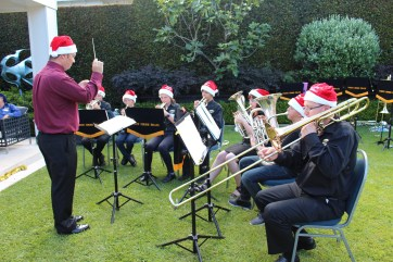 Academy Band members entertain