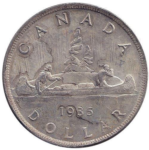 Canada S 1935 Silver Dollar North Shore Numismatic