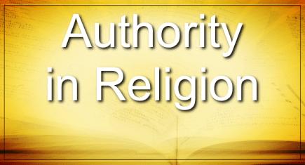 Authority In Religion