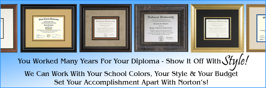 you worked long and hard for your degree, frame it with style with custom picture framing