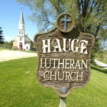 Hauge Lutheran Church Sign