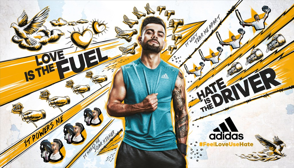 Adidas yellow poster 30x17 inch