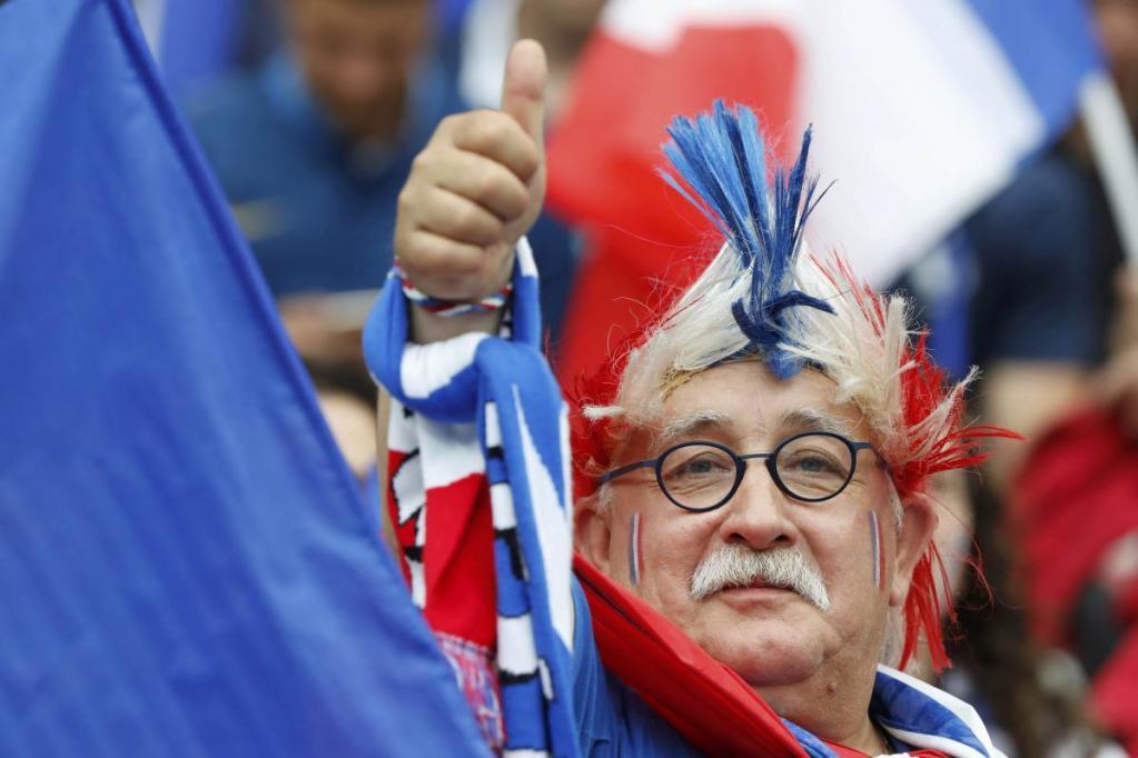 Football Soccer - France v Romania - Euro 2016 - Group A - Stade de France, Paris Saint Denis, France - 10/6/16 France supporter. REUTERS/Charles Platiau
