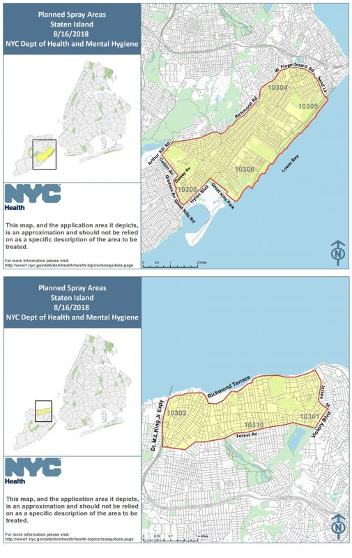 Staten Island to be Sprayed with Toxic Pesticides This Evening, August 16th; In Four Boroughs Larvaciding by Helicopter Aug. 16, 17, 20