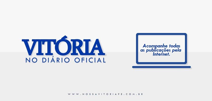 Vitória no Diário Oficial, 22 de outubro