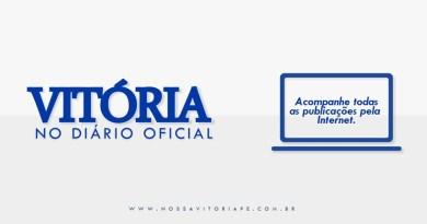 Vitória no Diário Oficial, 31 de agosto