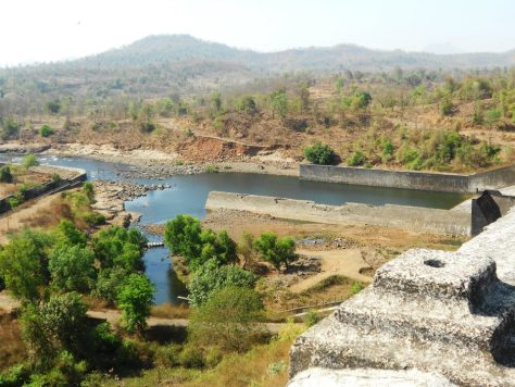 The nearby dam