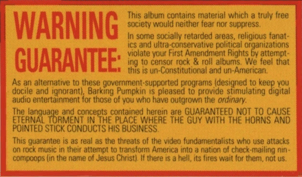 frank-zappa-warning-guarantee-sticker-pmrc-free-speech-record