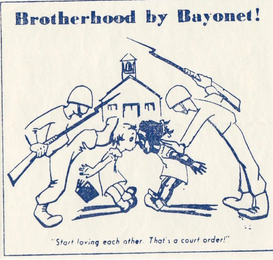 """Brotherhood by Bayonet,"" series 923, box 15, folder ""Busing Schools Incoming 15 of 16, 1970,"" Florida State Archives. Claude Roy Kirk, Jr. Correspondence, 1967-1971."