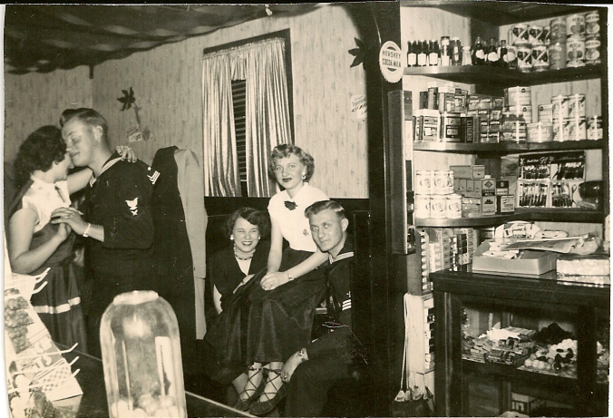 """Sailors at Herron's Sweete Shop in Duryea, Pennsylvania."" (Image: http://www.duryeapa.com/)"