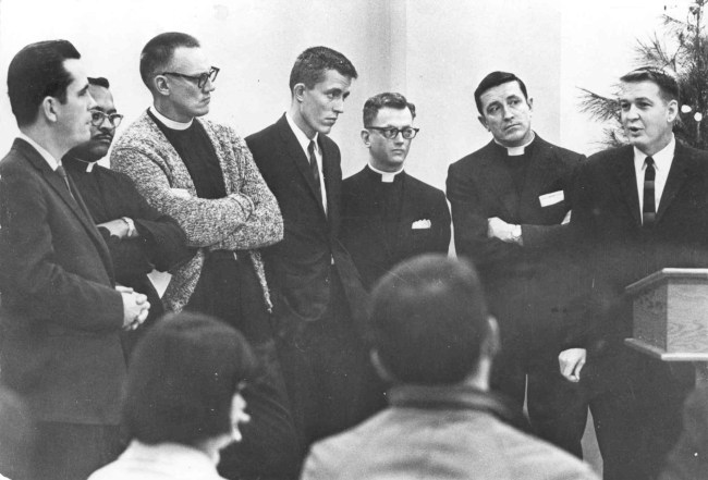 Clergy participants in the Council on Religion and the Homosexual, 1965. Courtesy of the Gay, Lesbian, Bisexual, Transgender Historical Society, San Francisco.
