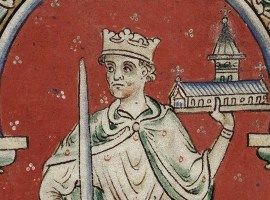 Detail of a miniature of Richard I of England, whose sexuality is discussed by Boswell.