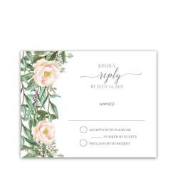 Admirable Wedding Response Cards Blush Floral Greenery Wedding Rsvp Cards What To Write Weddings Aboutodinvitationsareplycardwordinm