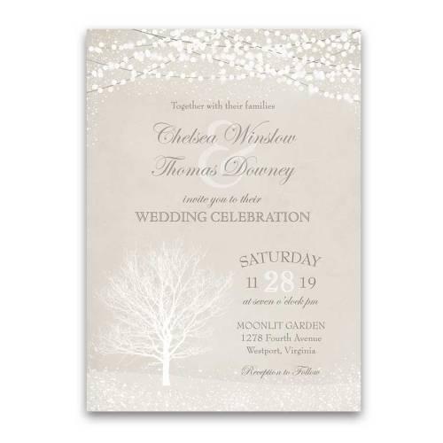 Medium Of Winter Wedding Invitations