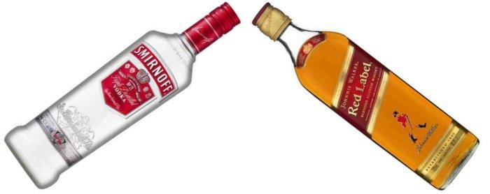 smirnoff & Johnnie Walker