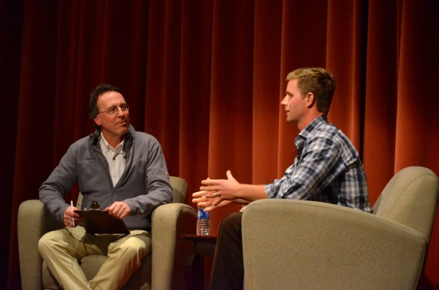 Steve Hauschka and SI Senior Writer Alex Wolff talked about Hauschka's Middlebury career, his move to NC State, and life in the NFL. Courtesy of Rachel Frank