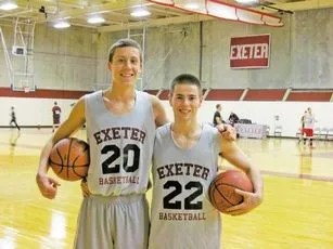Duncan Robinson and Harry Rafferty while at Exeter