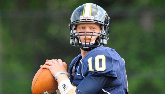 Brandon Tobin '18 will join Hamilton College this fall to play quarterback. (Courtesy of Pace University Athletics)