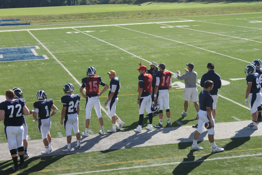 No team in the NESCAC can boast the kind of depth at QB that Middlebury can. Pictured: (Photo taken by Joe MacDonald)
