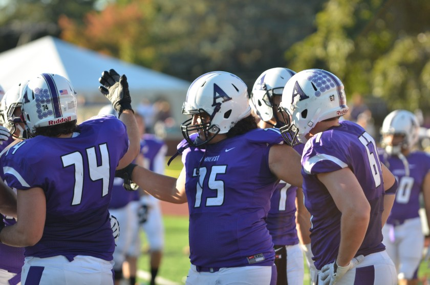 Amherst has done nothing but celebrate this season. (Photo by Joe MacDonald)