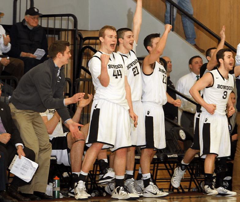 The middle three seniors lead an in flux Bowdoin team. (Courtesy of Bowdoin Athletics)