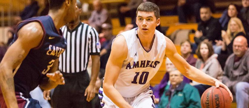 Johnny McCarthy '18 needs a big game in order to stop Babson's high-powered offense. (Courtesy of Amherst Athletics)