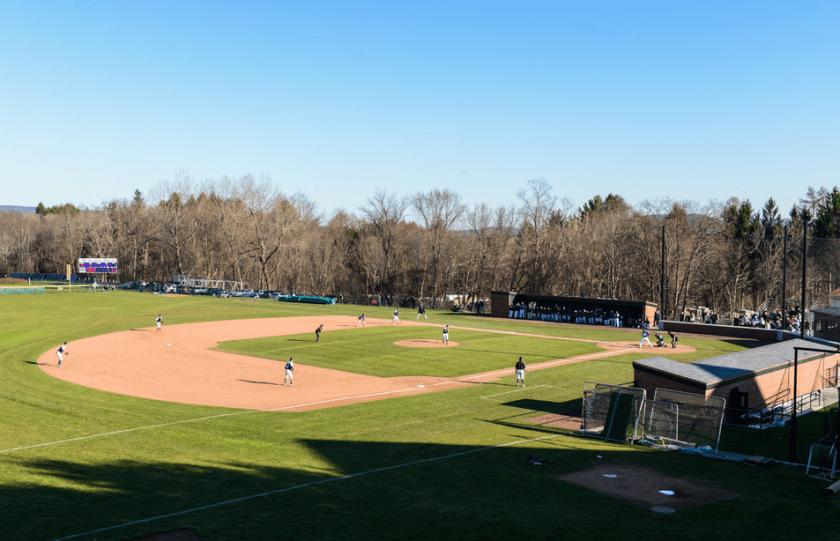 The Amherst baseball diamond looks oh so fine. (Courtesy of Amherst Athletics)