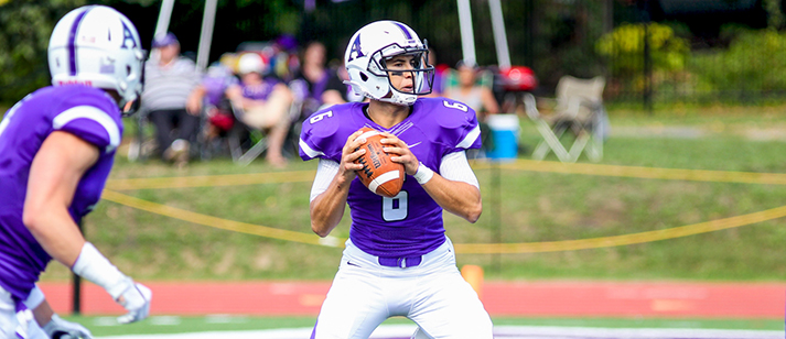 Alex Berluti '17 hopes to lead Amherst to an upset victory on Saturday (Courtesy of Amherst Athletics)