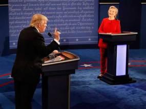 Trump y Clinton se atacan durante debate